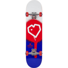"Blueprint Spray Heart V2 скейтборд Complete 8"" - Red/Blue"