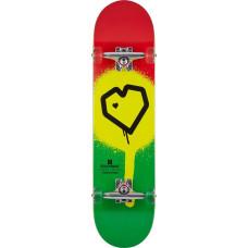 "Blueprint Spray Heart V2 скейтборд Complete 8"" - Rasta"