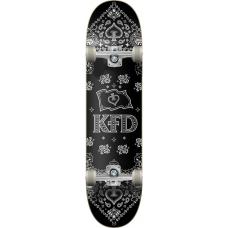 "KFD скейтборд Bandana Complete Skateboard 8"" - Black"