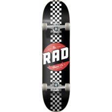 "RAD скейтборд Checker Stripe Complete Skateboard 8"" - Black"