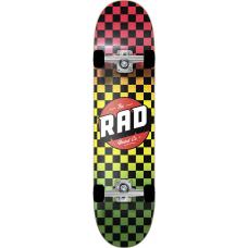 "RAD скейтборд Checkers Complete Skateboard 8"" - Rasta Fade"
